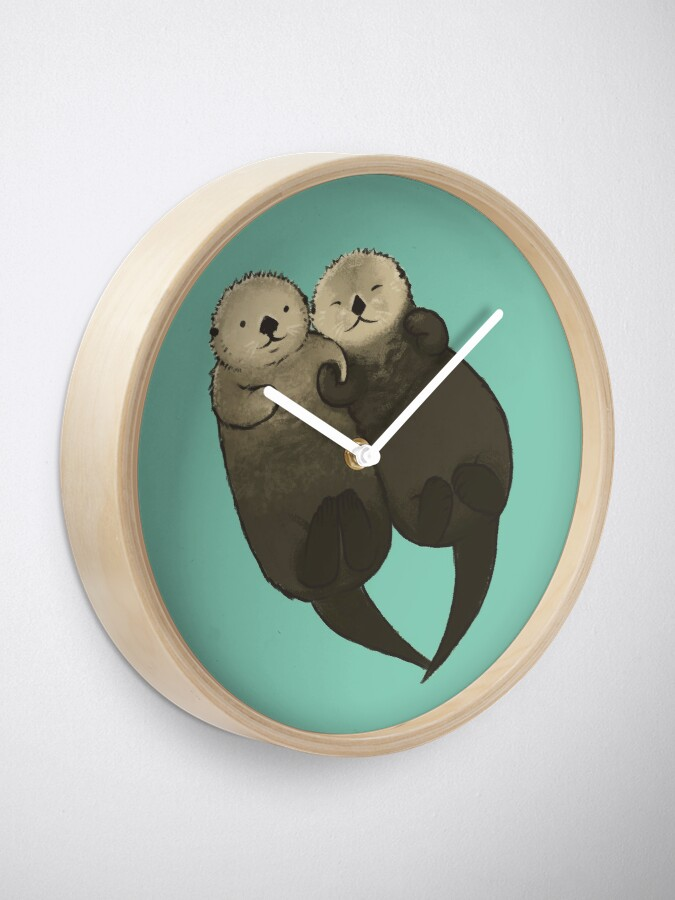 Alternate view of Significant Otters - Otters Holding Hands Clock