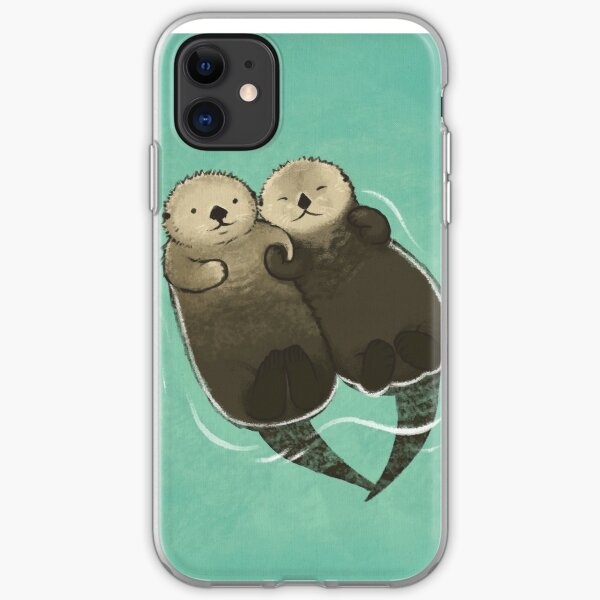 Significant Otters - Otters Holding Hands iPhone Soft Case