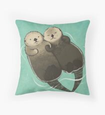 Bedeutende Otter - Otter, die Hände halten Dekokissen