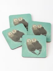 Significant Otters - Otters Holding Hands Coasters