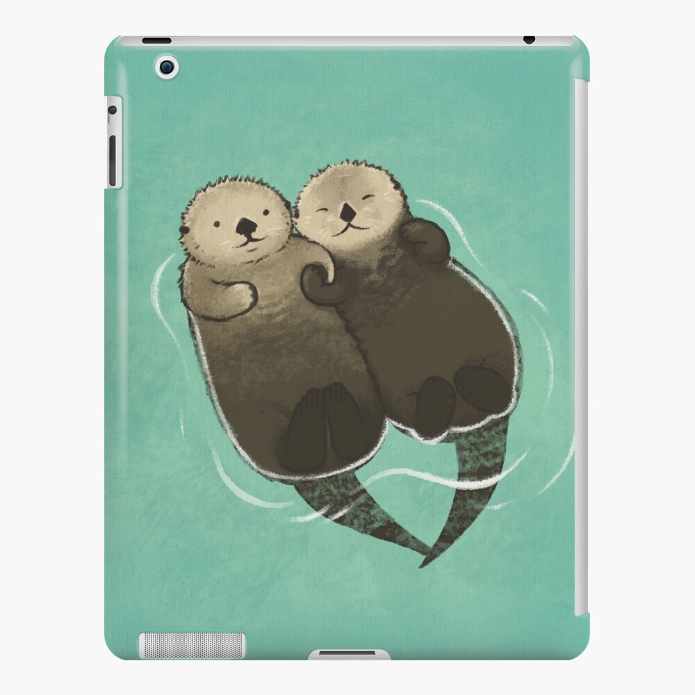 Significant Otters - Otters Holding Hands iPad Case & Skin