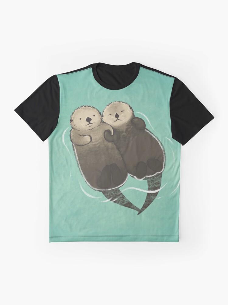 Alternative Ansicht von Bedeutende Otter - Otter, die Hände halten Grafik T-Shirt