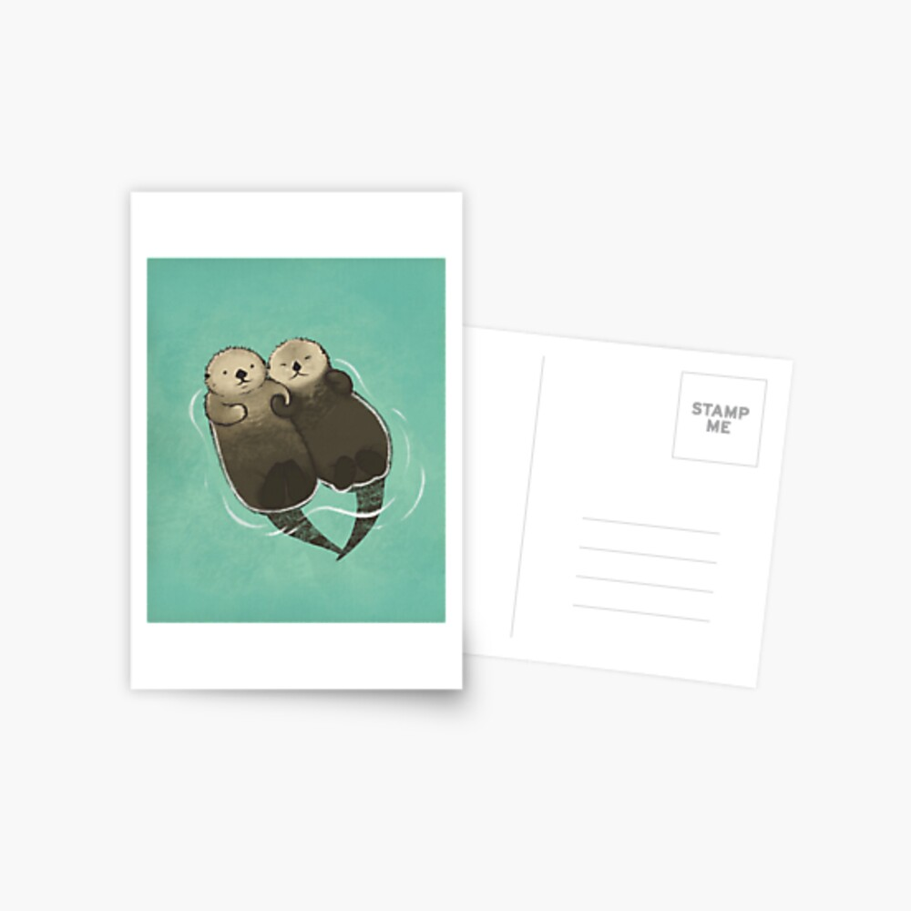 Significant Otters - Otters Holding Hands Postcard
