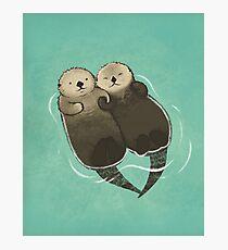 Bedeutende Otter - Otter, die Hände halten Fotodruck