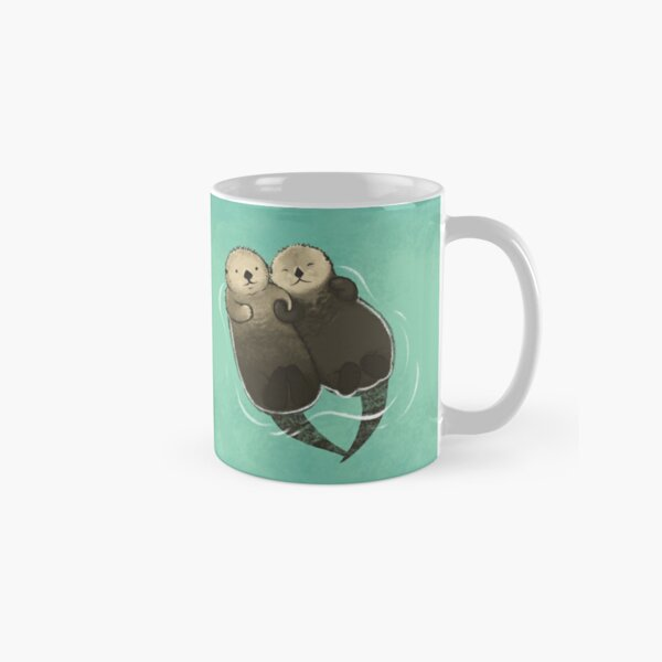 Significant Otters - Otters Holding Hands Classic Mug