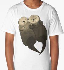 Camiseta larga Nutrias significantes - nutrias tomados de la mano