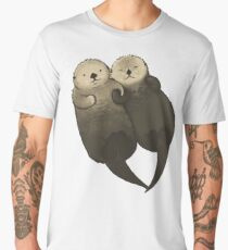 Significant Otters - Otters Holding Hands Men's Premium T-Shirt