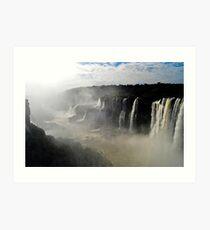 Iguazu Falls Seen from Brazil Art Print