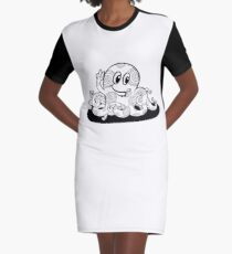 Just Add Colour - Happy Octopus Graphic T-Shirt Dress