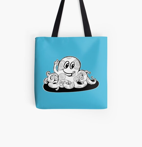 Just Add Colour - Happy Octopus All Over Print Tote Bag