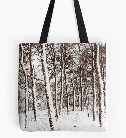 Trees in the snow Tote Bag