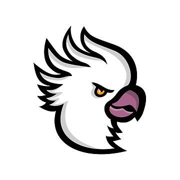 Crested Cockatoo Head Mascot by patrimonio
