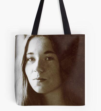 Girl in Light Tote Bag