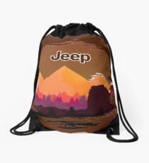 Jeep Off Road Drawstring Bag