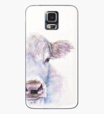 Schweizer weiße Kuh aus George Dyachenko Aquarell Hülle & Klebefolie für Samsung Galaxy