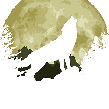 Howling Wolf And Epic Full Moon by idaspark