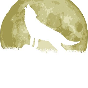 Howling Wolf In Front Of Epic Full Moon by idaspark