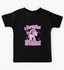 I Eat Glitter for Breakfast Funny Rainbow Pony Kids Tee