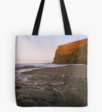 Cornwall: Orange Glow at Crackington Haven Tote Bag