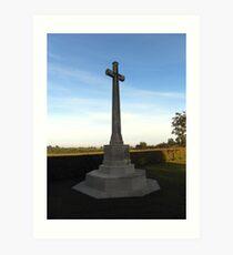 Adelaide Cemetery, Villers-Bretonneux Art Print