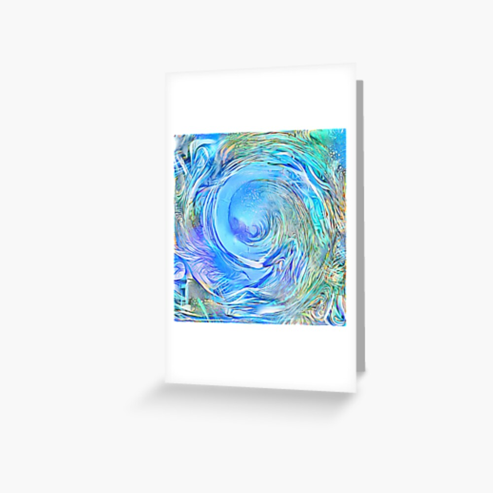 Abstract Waterfall Wave Vortex Greeting Card