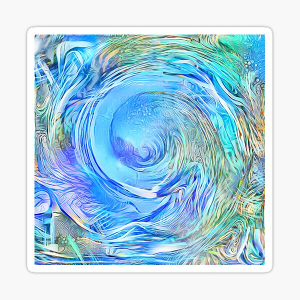 Abstract Waterfall Wave Vortex Sticker