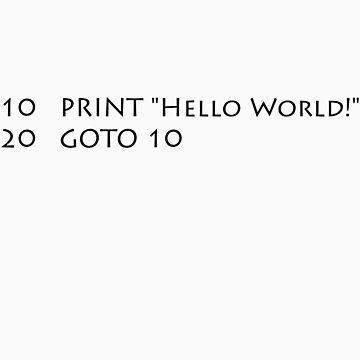 Hello World (Black) by fastpaolo