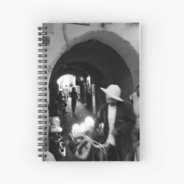 Old city motion Spiral Notebook