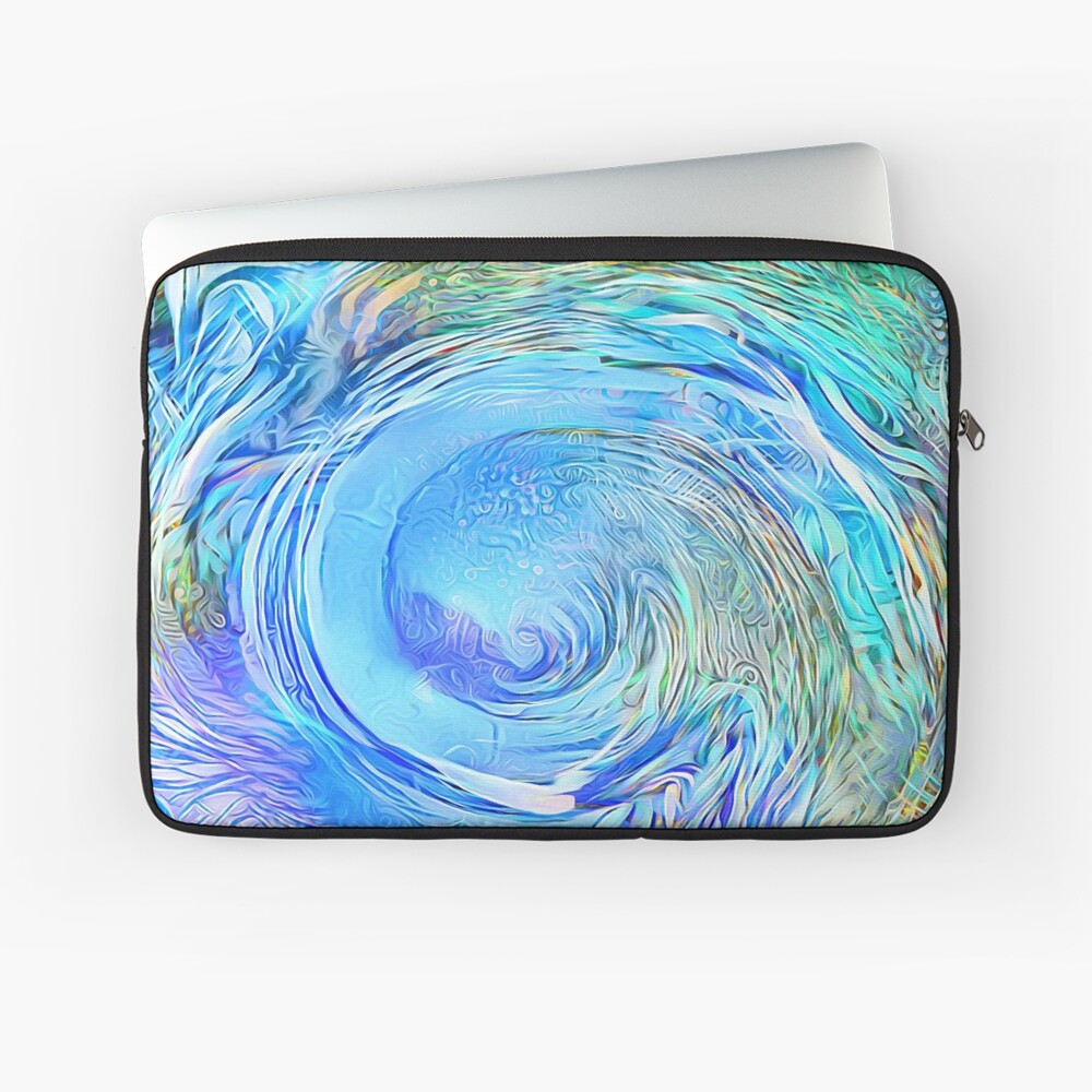 Abstract Waterfall Wave Vortex Laptop Sleeve