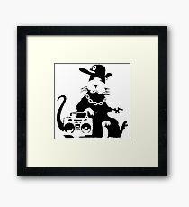 banksy - ghetto rat Framed Print