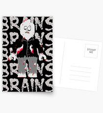 BRAINS BRAINS BRAINS BRAINS BRAINS Postcards