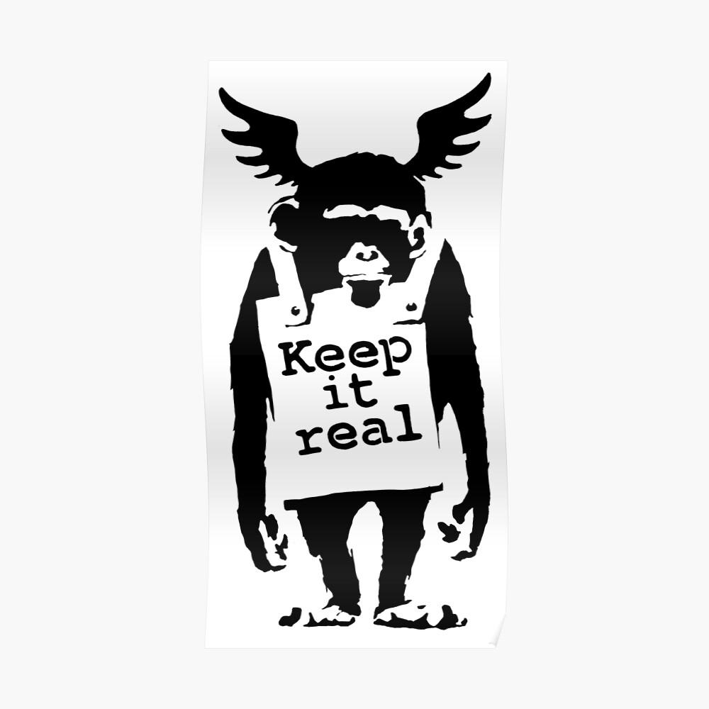 Banksy - halte es für einen echten Affen Poster