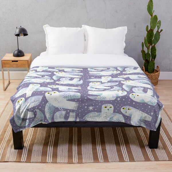 Snowy Owls Throw Blanket