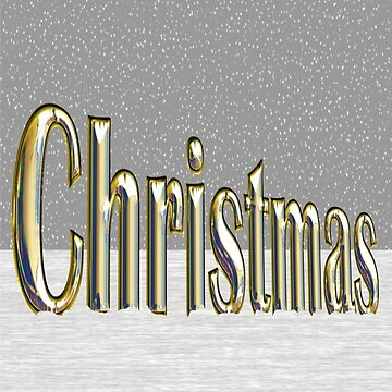 Christmas text standing in golden look. by robelf