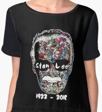 Stan Lee - Man of Many Faces Chiffon Top
