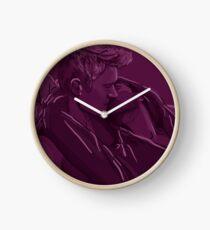 Hoodie Kisses Clock