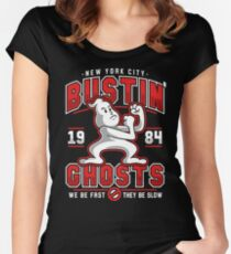 New York City Bustin' Ghosts Women's Fitted Scoop T-Shirt
