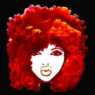 Natural Hair Autumn Fire Red Curly Hair Afro  by EllenDaisyShop