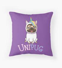 Cojín de suelo UniPug - Lindo Pug Unicorn Costume Pug Art