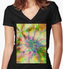 Yellow Jessica Fraktal Shirt mit V-Ausschnitt