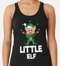 Little Elf Christmas Funny Cute Merry Xmas Costume Squad Racerback Tank Top