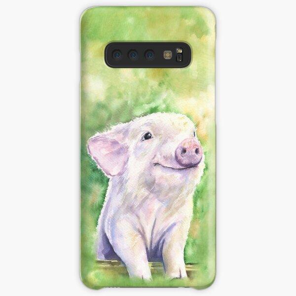 Happy little piggy watercolor from George Dyachenko Samsung Galaxy Snap Case