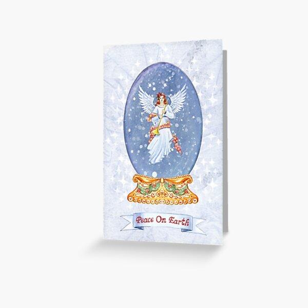 Snow Globe Angel Greeting Card