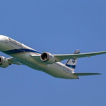 El Al Boeing 787-9 Dreamliner Photographed at Ben-Gurion Airport, Israel by PhotoStock-Isra