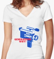 conan gray generation why Women's Fitted V-Neck T-Shirt