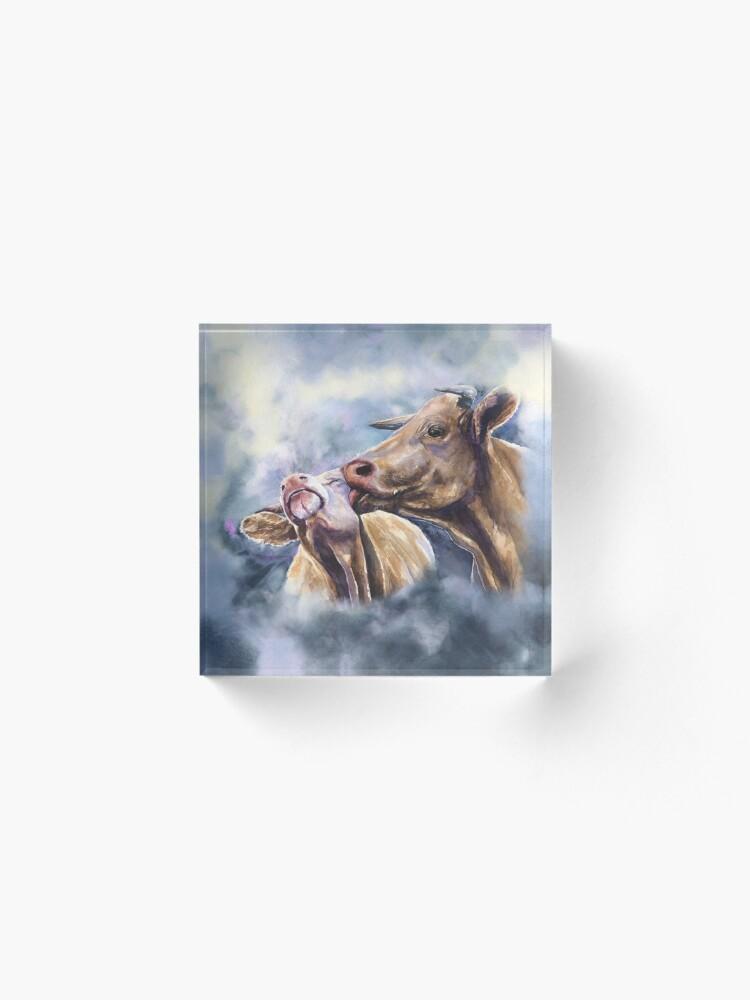 Alternate view of Cows love. Cow Romance from George Dyachenko Acrylic Block