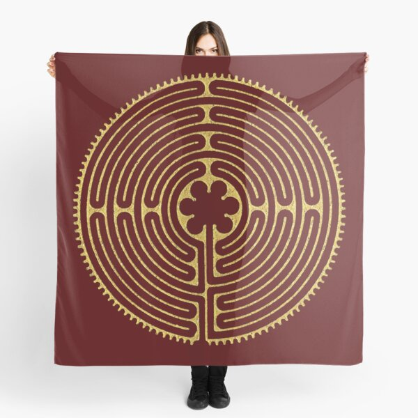 Sacred Geometry Symbol - Chartres Labyrinth 2 Scarf