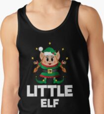 Little Elf Christmas Funny Cute Merry Xmas Costume Squad Tank Top