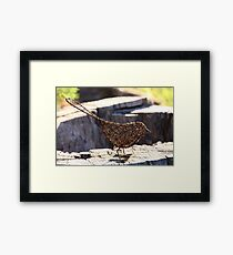 Wire Bird Framed Print