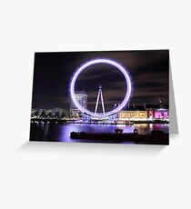 The London Eye By Night Greeting Card